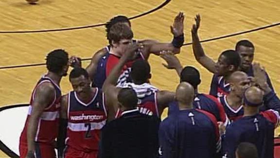 Video - Wizards Win, Wade Gets Hurt