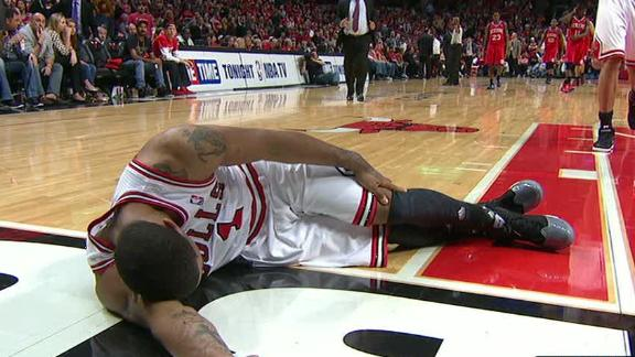 Video - Derrick Rose injured