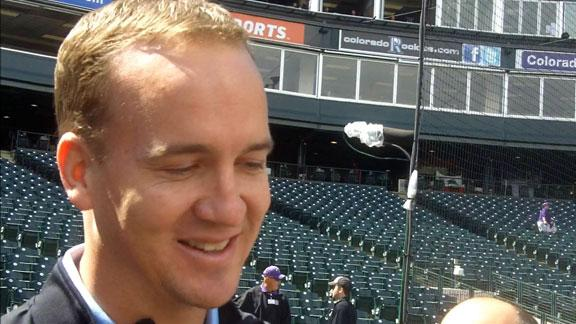 Video - Peyton Manning Takes In Rockies Game