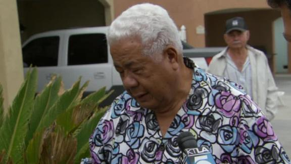Video - Junior Seau's Father Arrives At Home