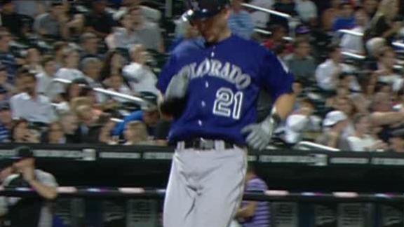 Video - Colvin's Bat, Glove Lead Rockies Past Mets