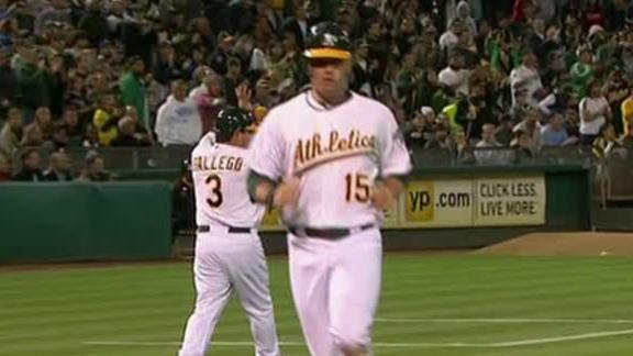 Video - A's Cruise Past Twins 5-1