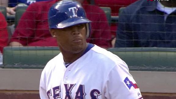 Texas' Harrison wins 15th; Beltre hits for cycle