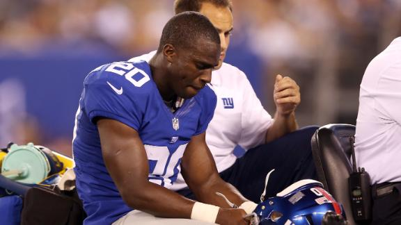 Giants CB Amukamara suffers high ankle sprain
