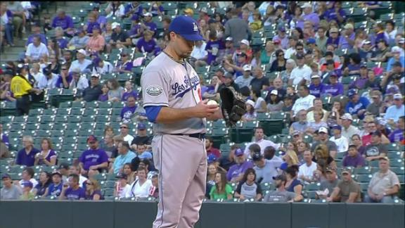Rockies spoil Beckett's debut with Dodgers