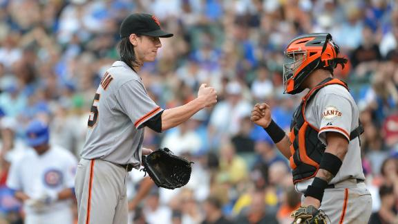 Lincecum turns in solid effort to handle Cubs