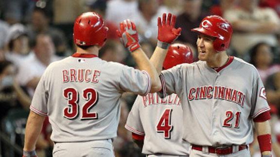 Bruce keys 5-run rally as Reds edge Astros