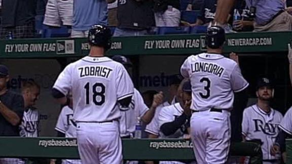 Longoria, Rays drop Yanks into tie for East lead