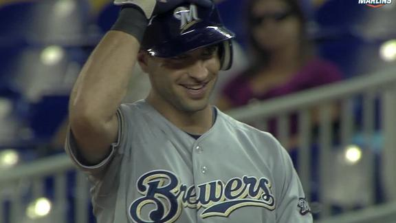 Video - Brewers Double Up Marlins