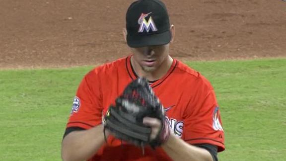 Video - Johnson Pitches Marlins Past Brewers