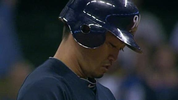 Surging Brewers rally, end Braves' 5-game run