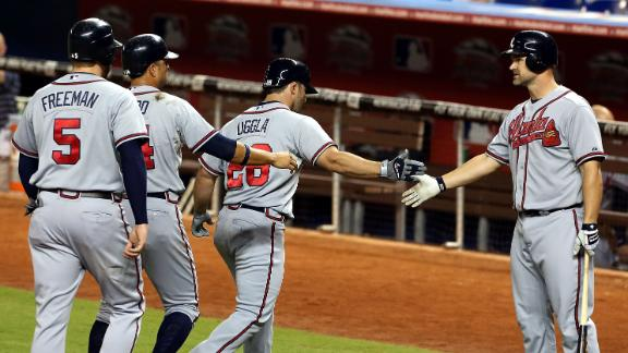 Uggla, Prado power Braves' win over Marlins