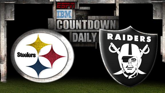 Video - Countdown Daily Prediction: Steelers-Raiders