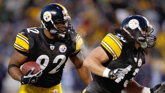 No need to rush Harrison, Polamalu