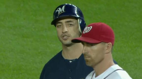 Brewers score 3 in ninth to beat Clippard, Nats