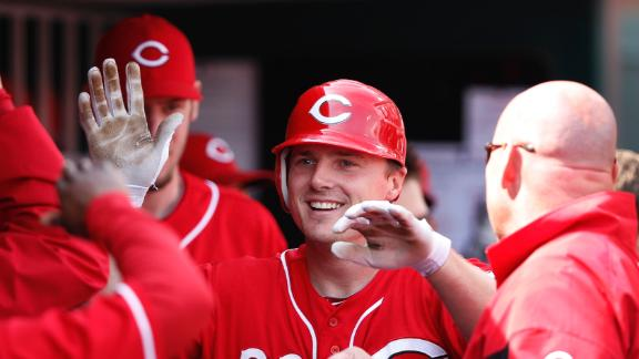 Reds clinch NL Central title behind Bruce's HR