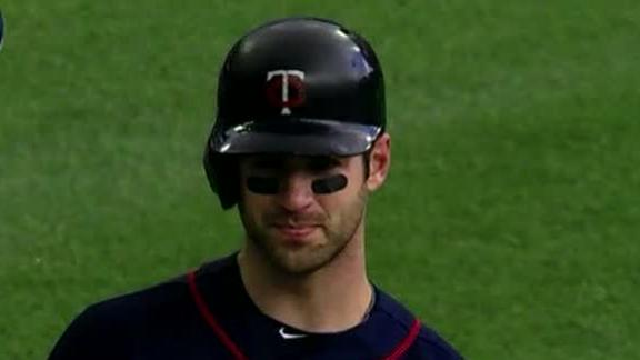 Mauer-led Twins drop Tigers in twinbill opener
