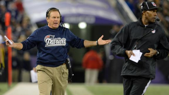 Frustrated Belichick grabs ref after Week 3 loss