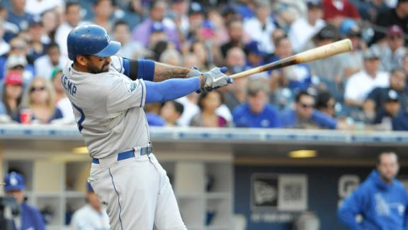 Kemp's 4 hits, 4 RBIs lead Dodgers past Padres