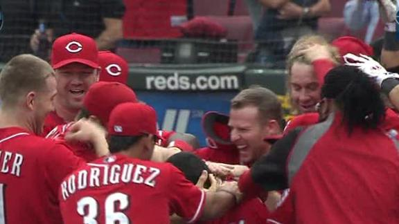 Video - Reds Rally In Ninth Inning To Top Brewers