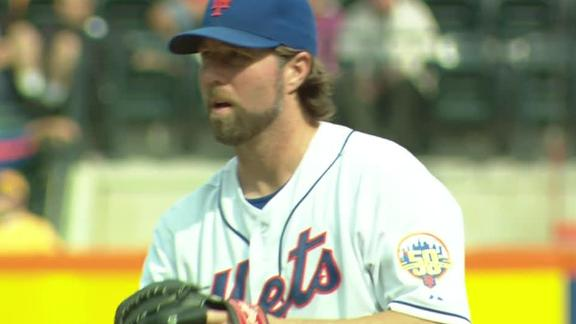 Video - Dickey Gets 20th Win As Mets Hang On