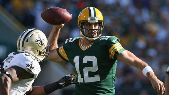 Rodgers rallies Packers to win over 0-4 Saints