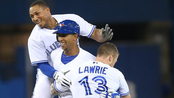 Gose's walk-off single lifts Jays over Twins in 10