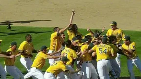 Video - A's Win AL West
