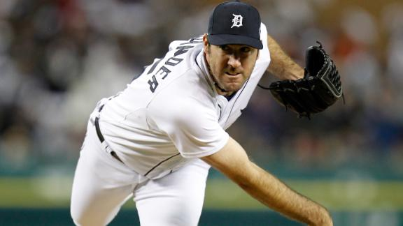 Verlander quiets A's as Tigers take 1-0 lead