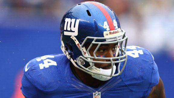 Career games by Cruz, Bradshaw carry Giants