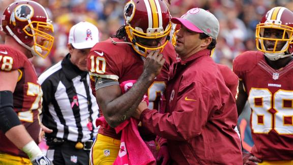 RG3 'shaken up' after hit; return questionable