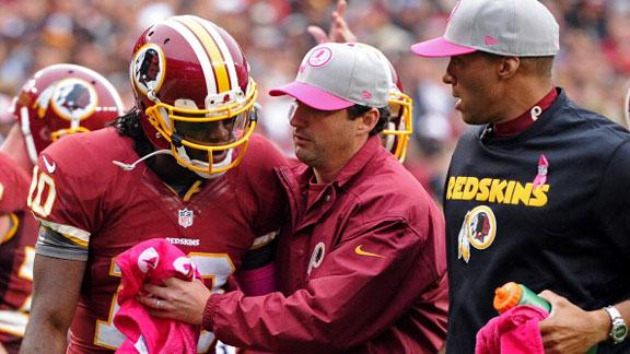 Cousins: RG3 'doing well' following concussion