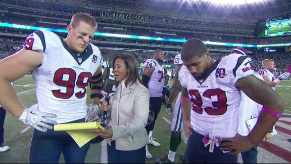 Video - Watt, Foster On Texans' Win