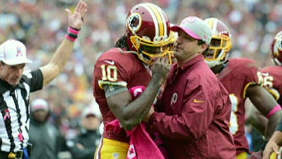 RG3 practices, cleared to play vs. Vikings