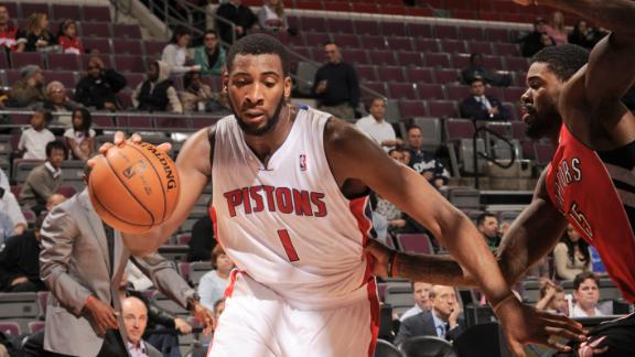 Video - Drummond Helps Pistons Edge Raptors