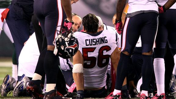 Cushing says Texans will win Super Bowl without him