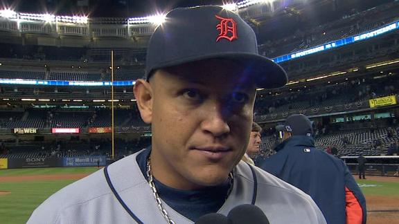Video - Miguel Cabrera After Tigers Hold On