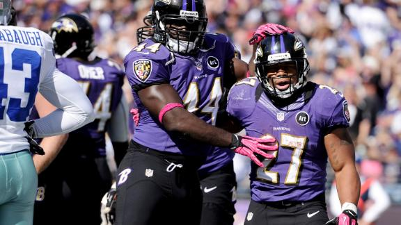 Ravens withstand late rally from Cowboys