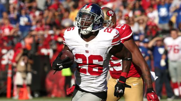 Giants bait 49ers' Smith into three INTs, roll 26-3