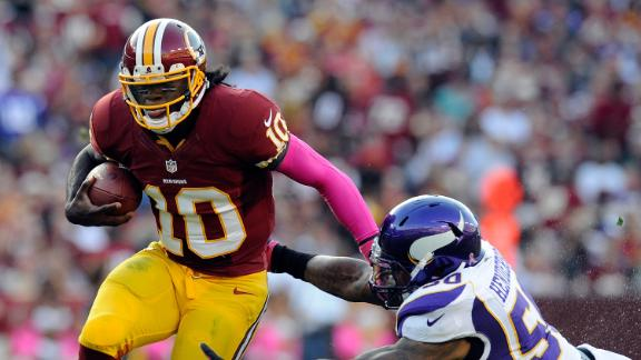 Griffin helps Redskins end 8-game skid at home