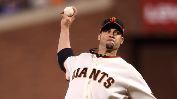 Video - Vogelsong Stifles Cardinals, Forces Game 7