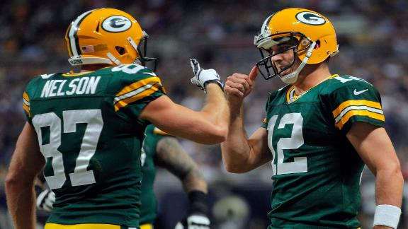 Aaron Rodgers and Jordy Nelson