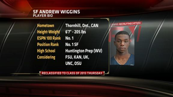 Andrew Wiggins reclassifies into Class of 2013, new No. 1 recruit ...