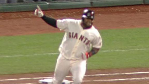 Sandoval's 3 homers lead Giants to Game 1 win