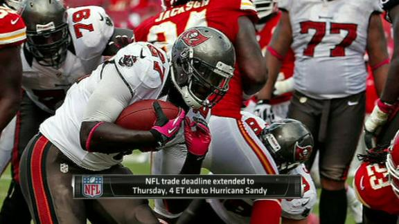 NFL moves trade deadline back to Thursday