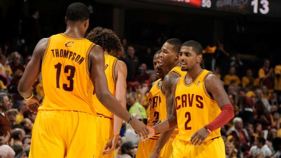 Irving pours in 29 as Cavs top Wizards in opener
