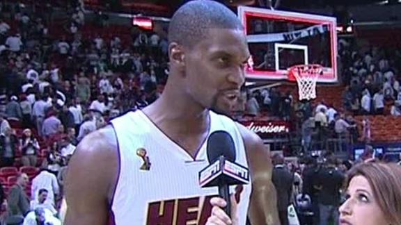 Video - Chris Bosh Talks After The Heat's Win