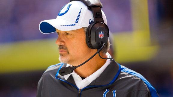 Colts' Pagano makes it to team's staff meeting