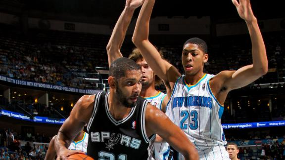 Video - Spurs Sink Hornets In Davis' Debut