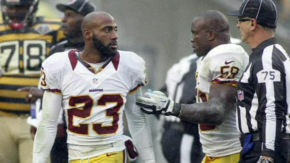 Report: Redskins' Hall fined $30,000 by the NFL